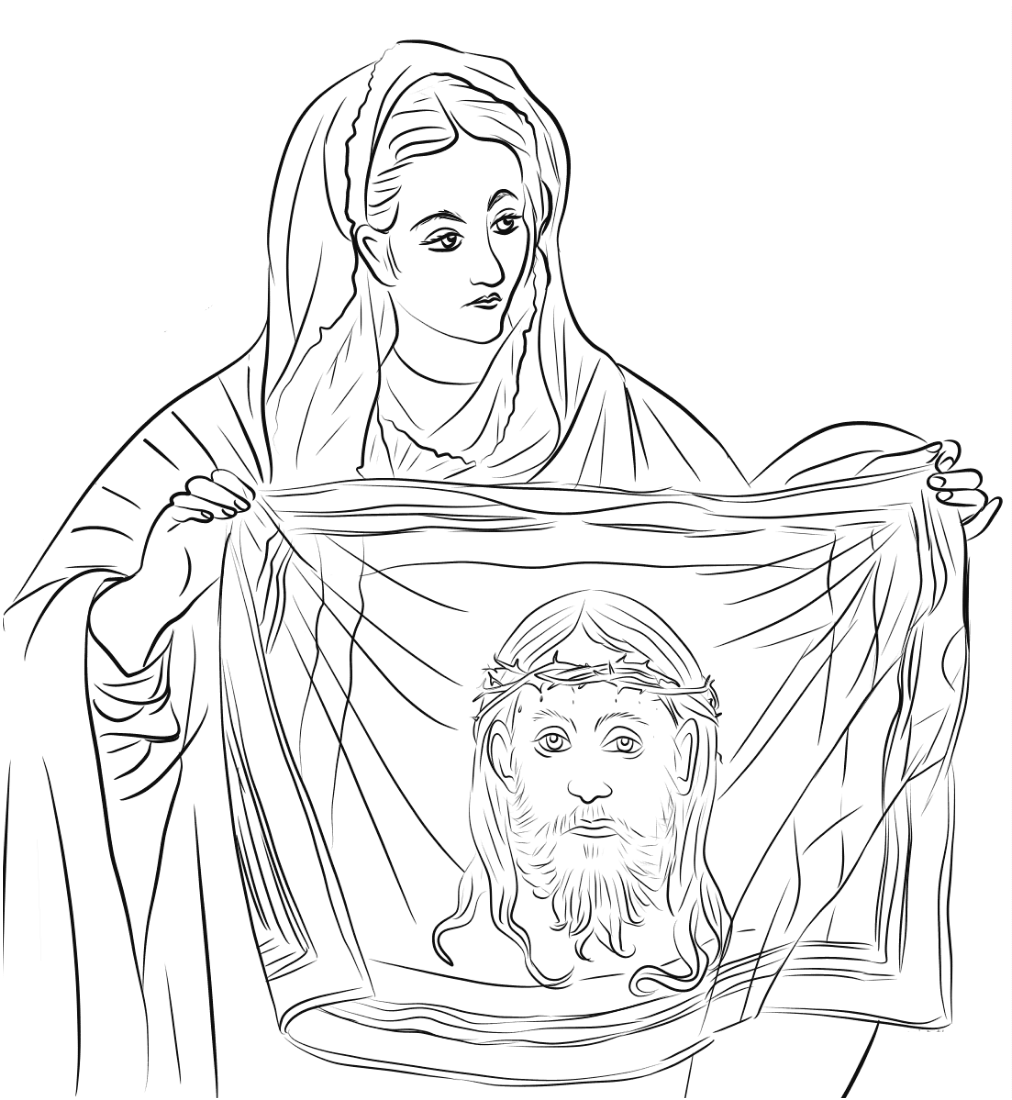St. Veronica Coloring Page