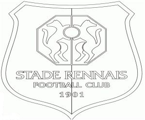 Stade Rennais F.C. Coloring Page