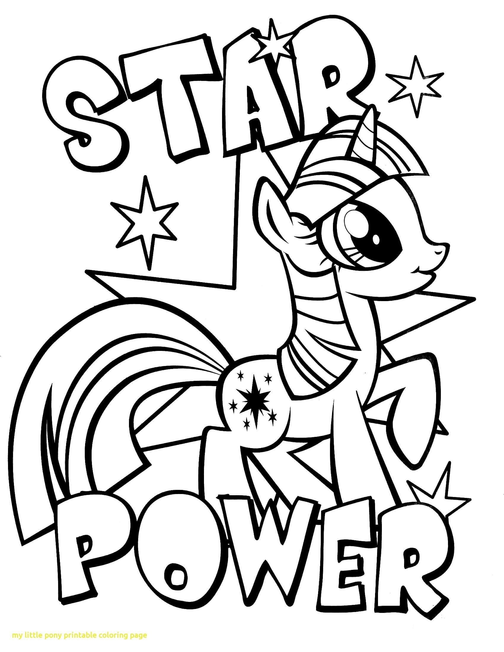 Star Power Coloring Page