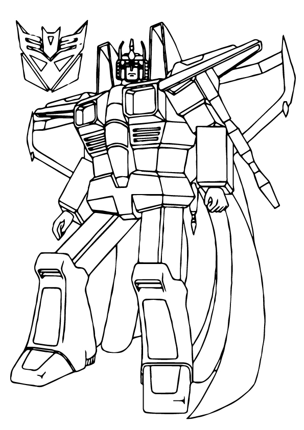 Star Scream Transformers Coloring Page