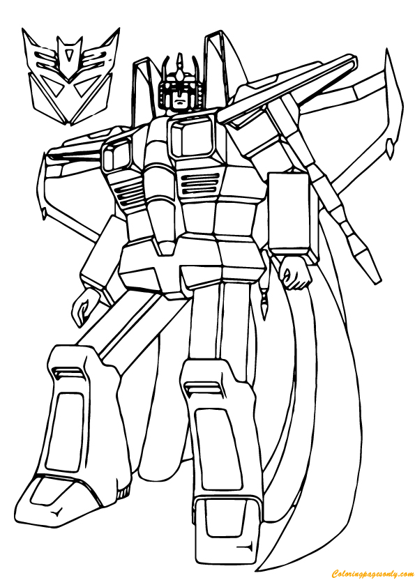 Star Scream Transformers Coloring