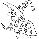 Star Swirl The Bearded from My Little Pony Coloring Page