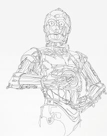 Star Wars - Continuous line Illustrations Coloring Page
