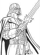 Star Wars - Darth Vader Coloring Page