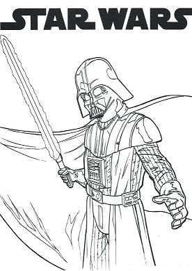 Star Wars 3 Coloring Page
