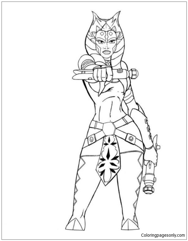 Star Wars Ahsoka Coloring Page