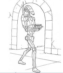 Star Wars Battle Droid Coloring Page