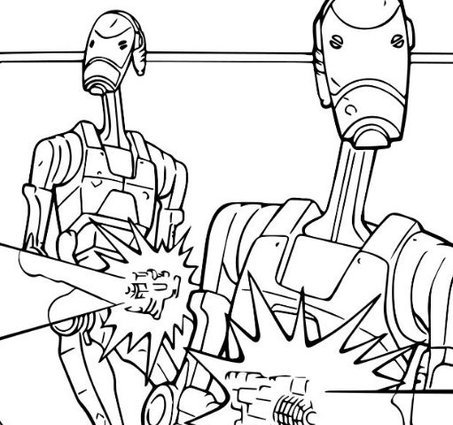 Battle Droids Coloring Page