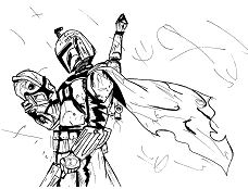 Star Wars Boba Fett Coloring Page