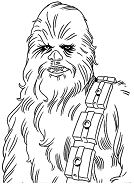 Star Wars Character Chewbacca Coloring Page