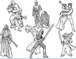 Star Wars Characters Coloring Page