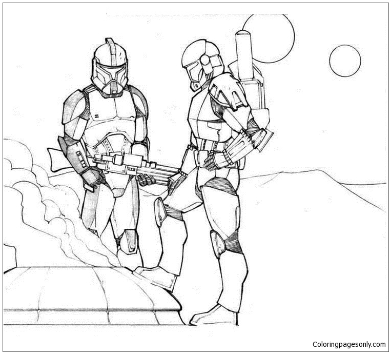 Star Wars The Clone Wars Coloring Pages to Print ... | 690x763