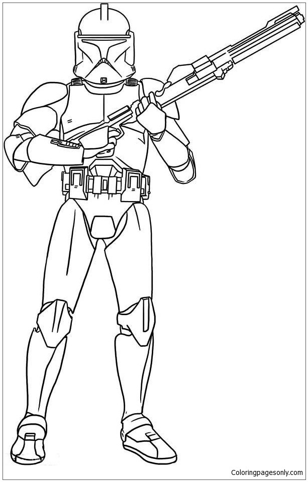 Star Wars Clone Coloring Page Free Coloring Pages Online