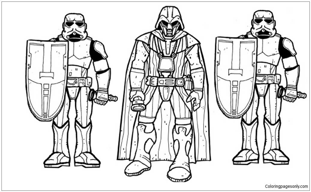 Star Wars Darth Vader Yoda Coloring Page Free Coloring Pages Online