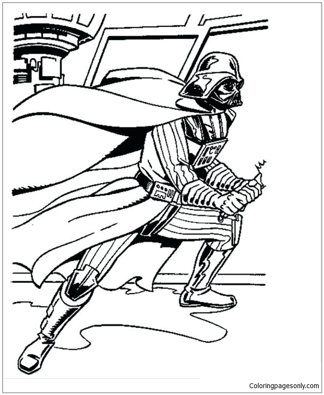 Darth Vader from Star Wars Coloring Pages