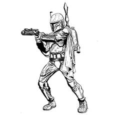 Star Wars Jango Fett Coloring Page