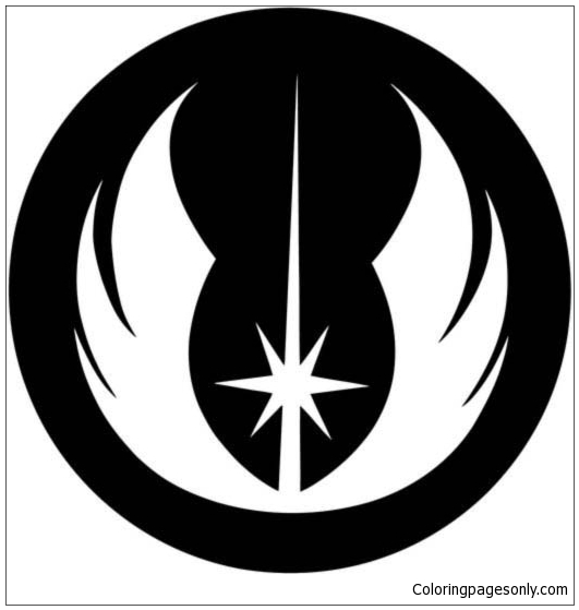 Star Wars Jedi Order Insignia Coloring Pages