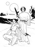 Star Wars: Leia and Padme Coloring Page