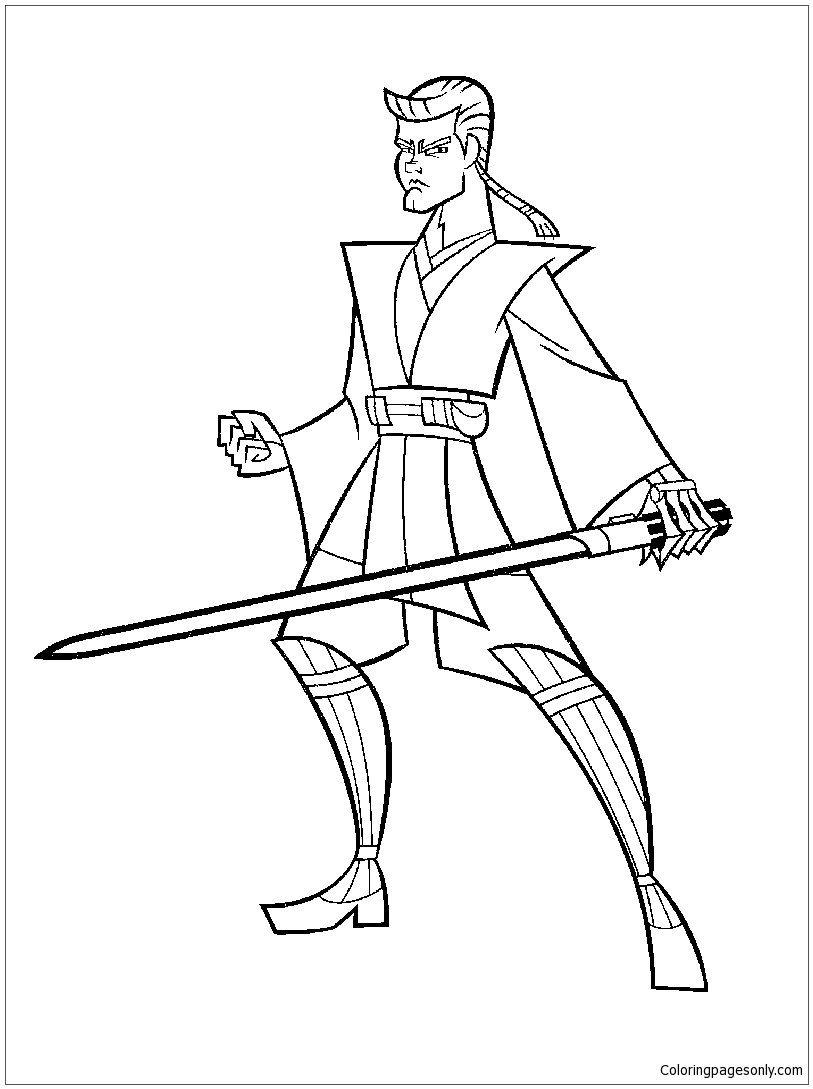 Star Wars Lightsaber Coloring Page - Free Coloring Pages ...