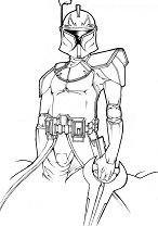 Star Wars Of Boba Fett Coloring Page