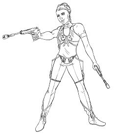 Star Wars Princess Leia 1 Coloring Page