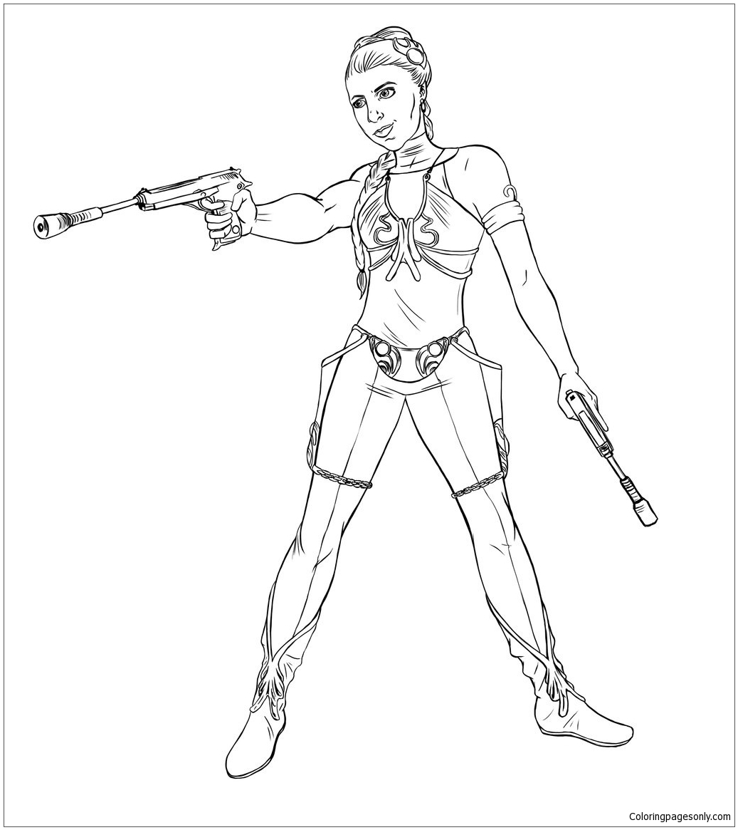 Star Wars Princess Leia 1 Coloring Page Free Coloring Pages Online