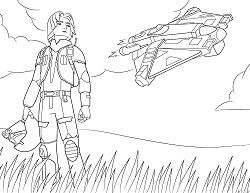 Star Wars Rebeller - Ezra Bridger Coloring Page