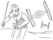 Star Wars Rebeller - Kanan Coloring Page