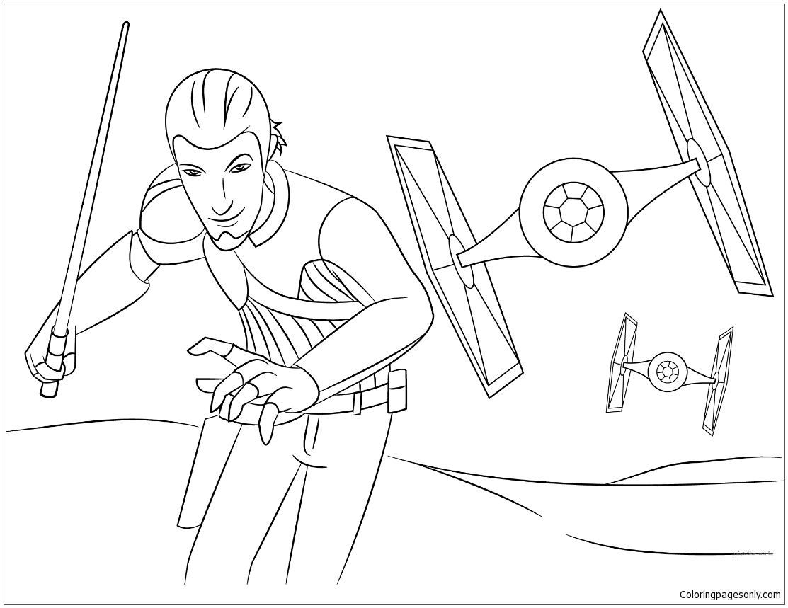 Star Wars Rebeller – Kanan Coloring Pages