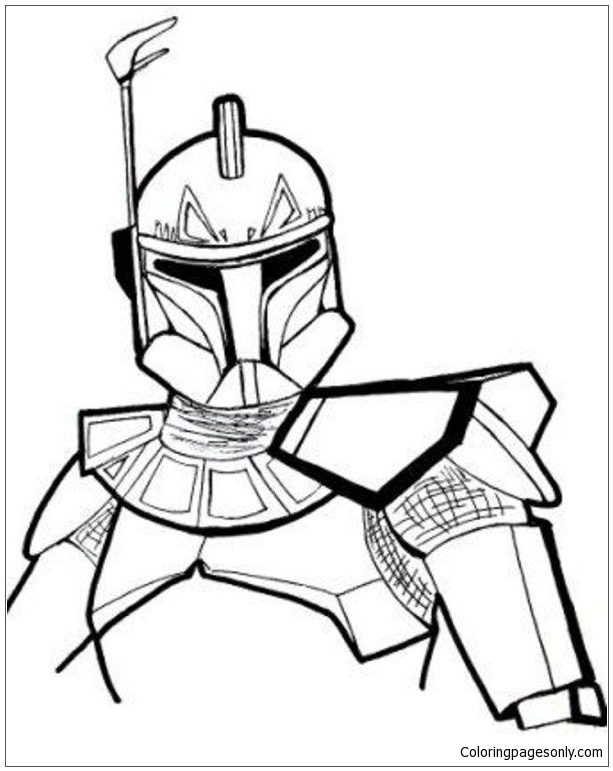 Star Wars Rex Coloring Page
