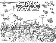Star Wars Scene Coloring Page