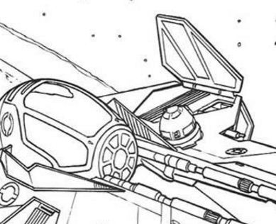 Star Wars Spaceships Coloring Page