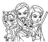 Star Wars The Clone Wars 2 Coloring Page