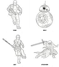 Star Wars The Force Awakens Coloring Page