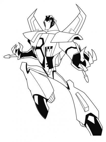 Starscream Deadth Transformers Coloring Page