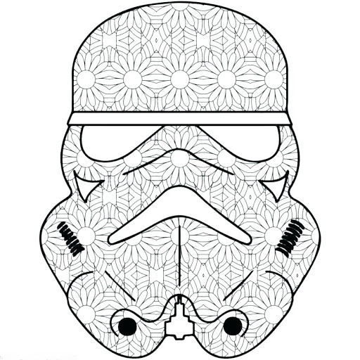 Starwars mask Coloring Page