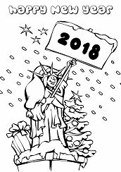 Statue Of Liberty Ringing In New Year 2018