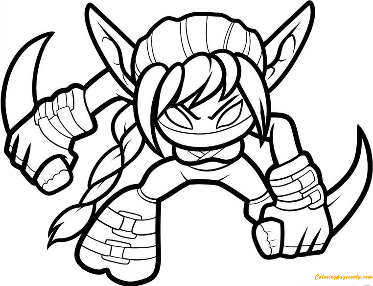 Stealth Elf Skylanders Coloring