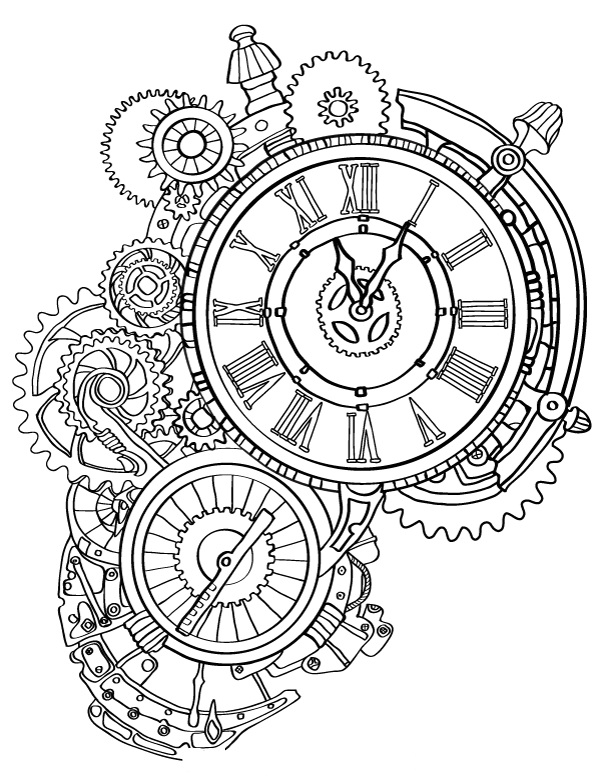 Steampunk Wall Clock