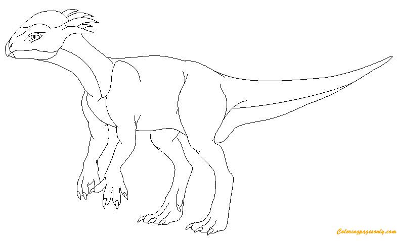 Stegoceras Dinosaur Coloring Page