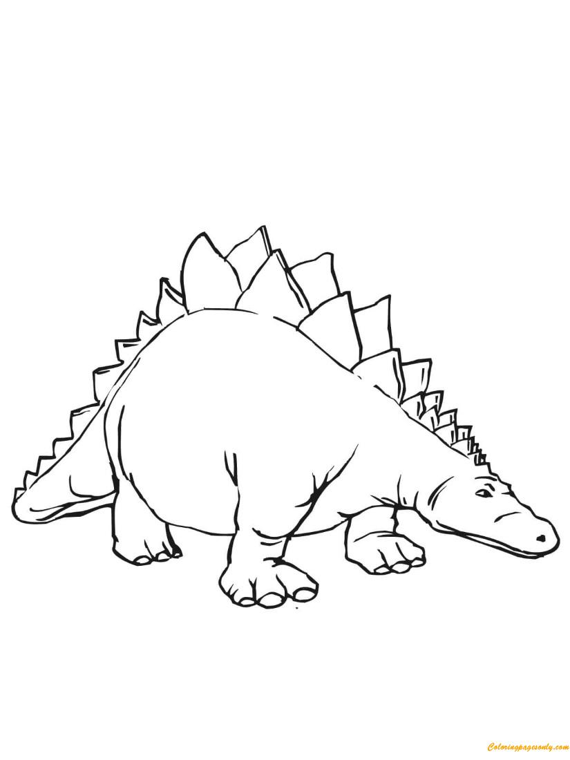 Stegosaurus Armored Stegosaurid Dinosaur Coloring Page