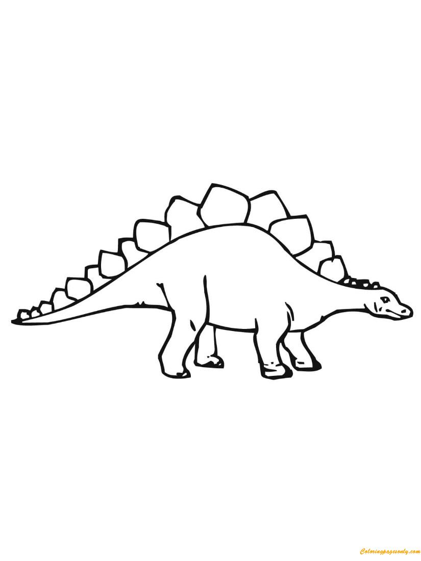 Stegosaurus Dino Dinosaurs Coloring Page