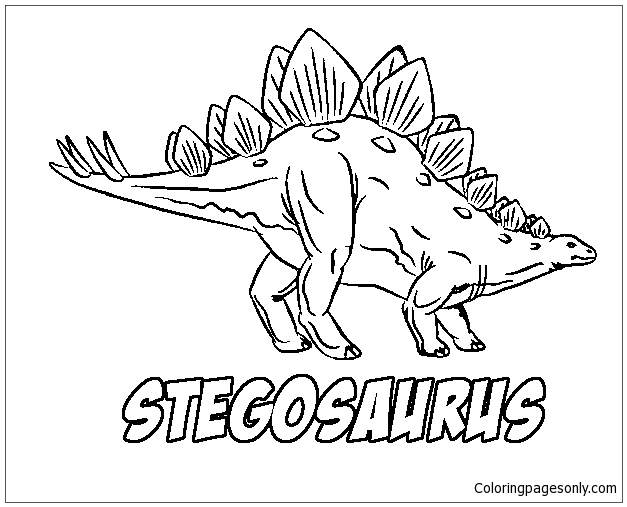 Stegosaurus Dinosaurs Coloring Page Free Coloring Pages