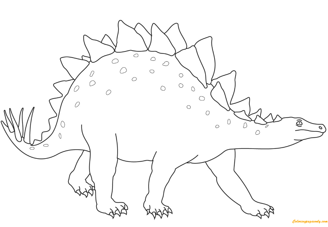 Stegosaurus From Dinosaur Coloring Page
