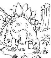 Stegosaurus Is Eating The Grass Coloring Page