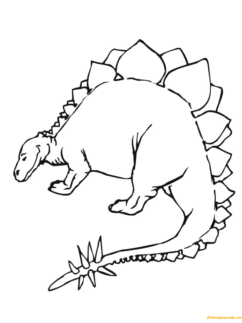 Stegosaurus Coloring Pages - ColoringPagesOnly.com
