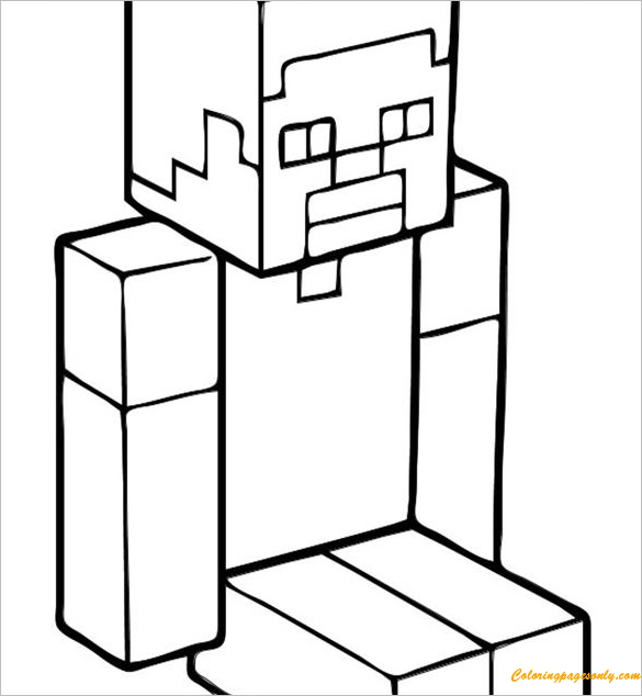 Steve Minecraft Coloring Pages - Cartoons Coloring Pages ...