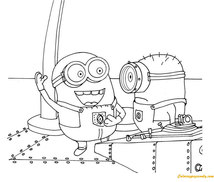 Stewart And George Coloring Page