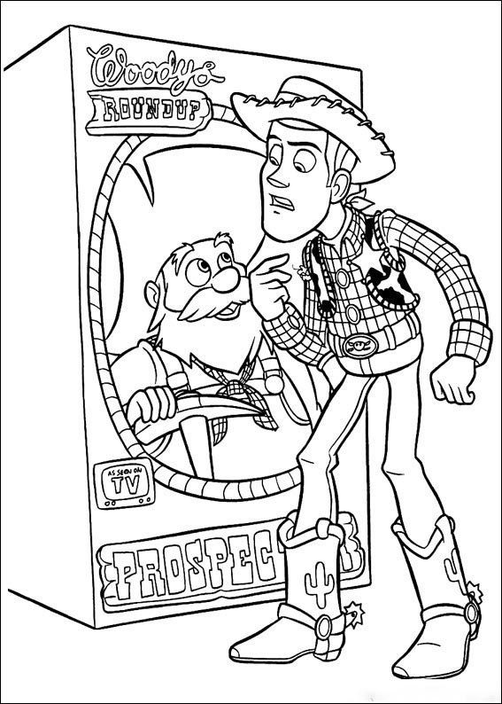Stinky Pete in the box Coloring Pages