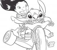 Stitch 13 Coloring Page